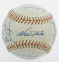 Autographs:Baseballs, Circa 1973-74 Los Angeles Dodgers Team Signed Baseball. Near theend of his successful coaching career with the Brooklyn an...