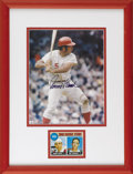 """Autographs:Photos, Johnny Bench Signed Photograph. High-quality 8x10"""" photo featuringHOF catcher Johnny Bench is the centerpiece of the displ..."""