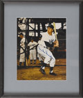 """Autographs:Photos, Duke Snider Signed Photograph. The Duke of Flatbush is masterfullydepicted in this 8x10"""" color batting practice photo. Al..."""