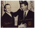 Autographs:Photos, Ted Williams and Stan Musial Signed Photograph. Stunning image oftwo of the most admired HOFers to play the game. Stan the...