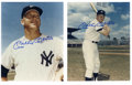 Autographs:Photos, Mickey Mantle Signed Photographs Lot of 2. Each of these twowonderful signed prints by the pinstriped legend portrays Mant...