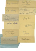 Autographs:Letters, Baseball Cut Signatures Lot of 27. Twenty-seven players havecontributed their high-quality ink signatures to this collecti...