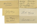 Autographs:Letters, Baseball Stars Cut Signatures Lot of 33. Thirty-three signatures from baseball's stars of the 1930s and '40s are offered he...