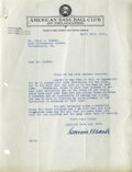Autographs:Letters, 1929 Connie Mack Signed Letter. Connie Mack, perhaps the mostesteemed executive in baseball's history, has provided a simp...