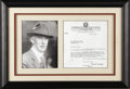 Autographs:Letters, 1938 Connie Mack Signed Typed Letter. In this 1938 letter, thelegendary Connie Mack formulates a response to a high school...