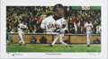 Baseball Collectibles:Others, Barry Bonds Signed Lithograph. The man who sits just 47 homersbehind Aaron's historic 755 is the subject of this Steve Hos...