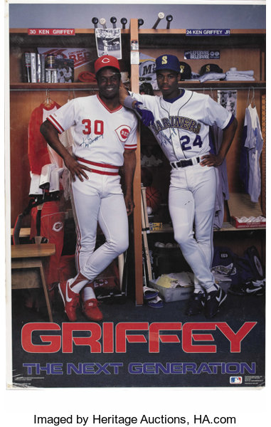 4e61b7df11 ... Baseball Collectibles:Others, Ken Griffey and Ken Griffey, Jr.  Dual-Signed ...