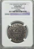 Mexico, Mexico: Carlos & Joanna 4 Reales ND (1541) M-M VF Details(Saltwater Damage) NGC,...