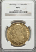Colombia, Colombia: Ferdinand VII gold 8 Escudos 1820 NR-JF XF45 NGC,...