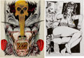 Original Comic Art:Covers, Tim Tyler Blood Reign #4 Cover and Splash Page Original Art(Fathom Press, 1991-92)....