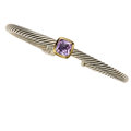 Estate Jewelry:Bracelets, Amethyst, Gold, Sterling Silver Bracelet, David Yurman. ...