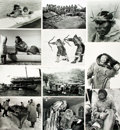 Books:Prints & Leaves, [Inuit Tribal Life]. Collection of Sixty Photographs DepictingInuit Daily Life.. ...