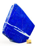 Lapidary Art:Carvings, Lapis Free Form Sculpture. Afghanistan. 8.66 x 7.00 x 1.62inches (22.00 x 17.80 x 4.13 cm). ...