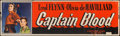 "Movie Posters:Adventure, Captain Blood (Warner Brothers, R-1951). Banner (24"" X 82"").Adventure.. ..."