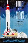 "Movie Posters:Adventure, Disneyland: Rocket to the Moon (Disney, R-1990s). Disneyland ParkPoster (36"" X 54""). Adventure.. ..."