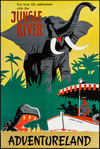 "Disneyland: Adventureland (Walt Disney, R-1995). Disneyland Attraction Poster (36"" X 54""). Adventure"
