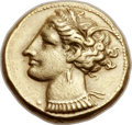 Ancients:Greek, Ancients: ZEUGITANIA. Carthage. Ca. 290-270 BC. EL stater (18mm,7.42 gm, 12h)....