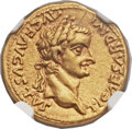Ancients:Roman Imperial, Ancients: Tiberius (AD 14-37). AV aureus (20mm, 7.87 gm, 11h)....