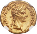 Ancients:Roman Imperial, Ancients: Tiberius (AD 14-37). AV aureus (19mm, 7.76 gm, 7h)....