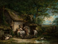 Fine Art - Painting, European:Antique  (Pre 1900), George Morland (British, 1763-1804). Happy Cottagers. Oil oncanvas. 33 x 43-1/2 inches (83.8 x 110.5 cm). Signed lower ...