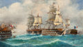 Paintings, Louis Papaluca (Italian, 20th Century). Shipping Scene. Oil on canvasboard. 18 x 30-1/2 inches (45.7 x 77.5 cm). Signed ...