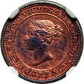 Ceylon, Ceylon: British Colony. Victoria Proof 1/2 Cent 1891 PR63 Red and Brown NGC,...