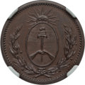 Argentina, Argentina: Buenos Aires copper Proof Decimo 1822 PR65 Brown NGC,...