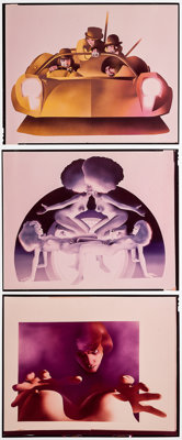"A Clockwork Orange (Warner Brothers, 1971). Concept Art Color Transparencies (6) (3.75"" X 5"", 8"" X 10&quo..."