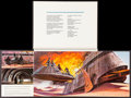 "Movie Posters:Science Fiction, Revenge of the Jedi (20th Century Fox, 1982). Promotional Book withOriginal Envelope (6 Pages, 10.5"" X 14"") & World Premier...(Total: 2 Items)"