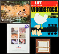 """Woodstock Lot (Warner Brothers, 1970). Programs (2) (48 Pages, 8.5"""" X 11"""" & 8.5"""" X 11.25"""")..."""