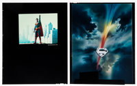 """Superman the Movie (Warner Brothers, 1978). Color Transparencies (2) (8"""" X 10""""). Action. ... (Total: 2 Items)"""
