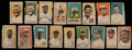 Baseball Cards:Sets, 1920 W519-1 Numbered 1 Decalco Litho Co., Inc. Collection (17) With Color Variations. ...