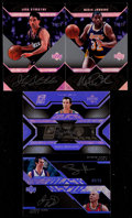 Basketball Cards:Lots, 2007 UD Black Basketball Signed Cards Collection (4)....