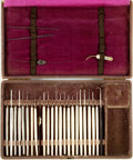 Books:Furniture & Accessories, [Medical Instruments]. Set of Ophthalmology Surgical Tools in Case.Various makers and dates....
