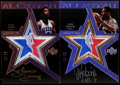 Basketball Cards:Lots, 2007 UD Black Basketball Julius Erving & David Robinson SignedRelic Pair (2)....