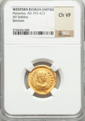 Ancients:Roman Imperial, Ancients: Arcadius, Eastern Roman emperor (AD 383-408). AV solidus....
