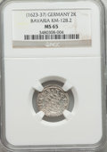 German States:Bavaria, German States: Bavaria. Maximilian I 2 Kreuzer ND (1623-37) MS65NGC,...