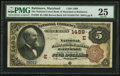 National Bank Notes:Maryland, Baltimore, MD - $5 1882 Brown Back Fr. 469 The National Union Bankof Maryland Ch. # (E)1489. ...
