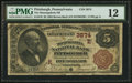 National Bank Notes:Pennsylvania, Pittsburgh, PA - $5 1882 Brown Back Fr. 470 The Monongahela NB Ch.# (E)3874. ...