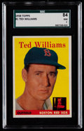 Baseball Cards:Singles (1950-1959), 1958 Topps Ted Williams #1 SGC 84 NM 7....