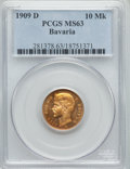 German States:Bavaria, German States: Bavaria. Otto gold 10 Mark 1909-D MS63 PCGS,...