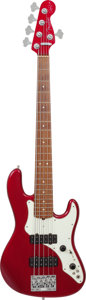 Musical Instruments:Bass Guitars, 1998 Fender Roscoe Beck Jazz Bass v Cardinal Red 5-String Electric Bass Guitar, Serial # SN8957169.. ...