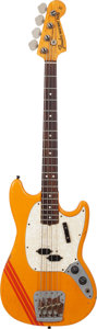Musical Instruments:Bass Guitars, 1973 Fender Mustang Bass Competition Orange Electric Bass Guitar, Serial # 370696....