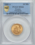 German States:Prussia, German States: Prussia. Friedrich III gold 10 Mark 1888-A MS66 PCGS,...