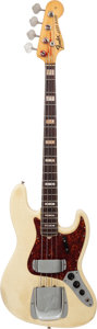 Musical Instruments:Bass Guitars, 1969 Fender Jazz Bass White Electric Bass Guitar, Serial # 261105....
