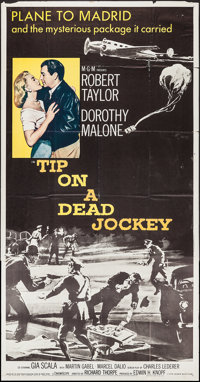 "Tip on a Dead Jockey & Other Lot (MGM, 1957). Three Sheets (2) (41"" X 79""). Crime. ... (Total: 2 Items..."
