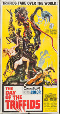 "Movie Posters:Science Fiction, The Day of the Triffids (Allied Artists, 1962). Three Sheet (41"" X79""). Science Fiction.. ..."