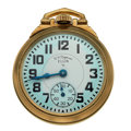 Timepieces:Pocket (post 1900), Elgin 21 Jewel B.W. Raymond Open Face Pocket Watch. ...