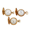 Timepieces:Pocket (post 1900), Three 18 Size Hunter's Case Pocket Watch Runners. ... (Total: 3Items)