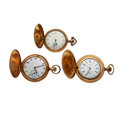 Timepieces:Pocket (post 1900), Two Elgin's & A Waltham Hunter's Cases Pocket Watches. ...(Total: 3 Items)